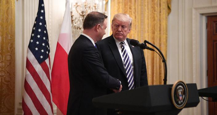 Prezydent USA Donald Trump i prezydent Polski Andrzej Duda