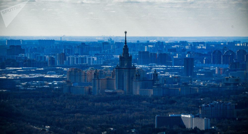 Panorama Moskwy z wieży widokowej PANORAMA360