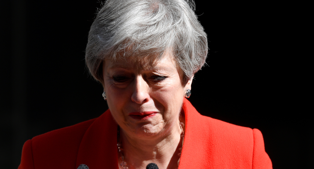 Zapłakana brytyjska premier Theresa May