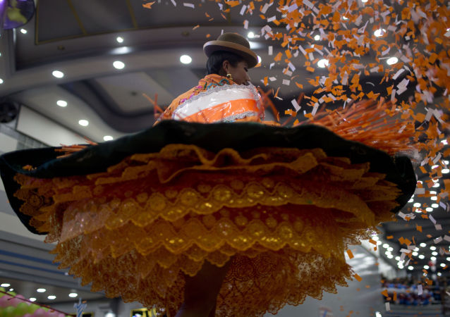 Uczestniczka konkursu Queen of Great Power w Boliwii.