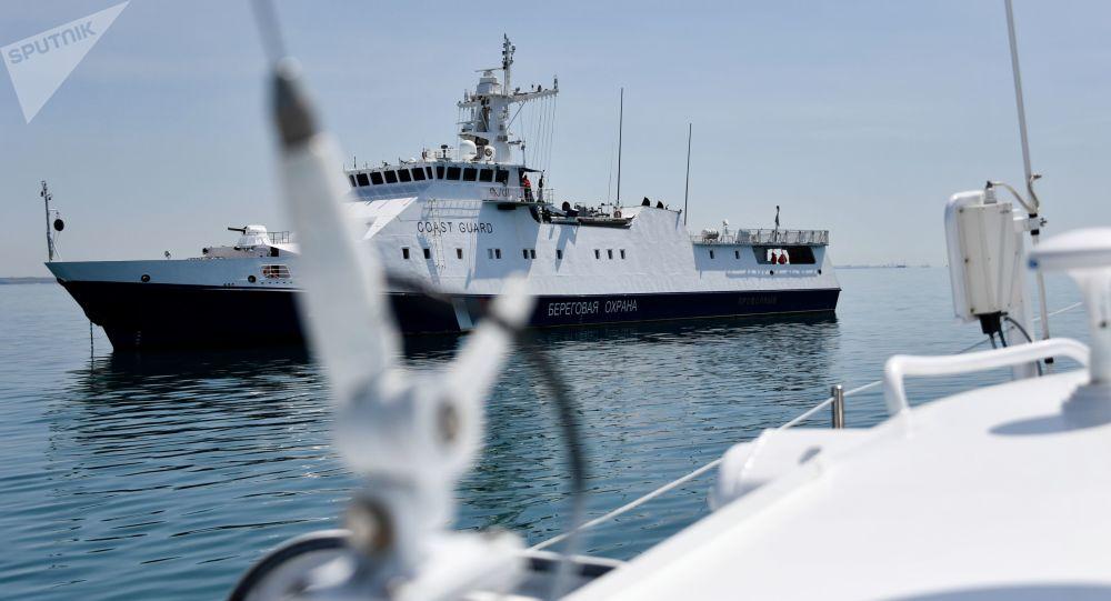 Praca Straży Przybrzeżnej FSB Federacji Rosyjskiej w Cieśninie Kerczeńskiej