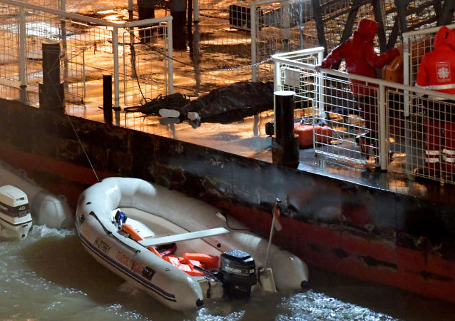 Ofiara zatonięcia statku w Budapeszcie