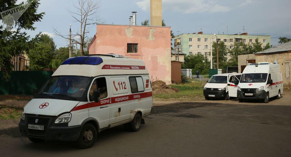 Na miejscu wybuchu w fabryce Kristall, Rosja
