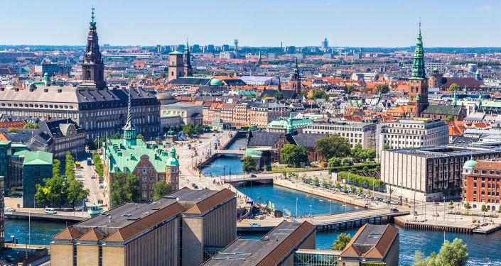 Widok na centrum Kopenhagi, Dania