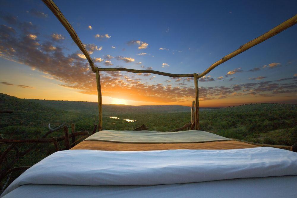 Poranek w hotelu Elewana Loisaba Star Beds w Kenii