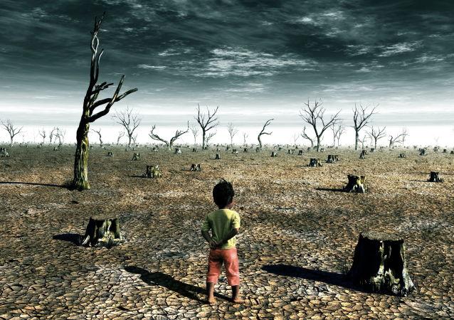 Dziecko w pustyni