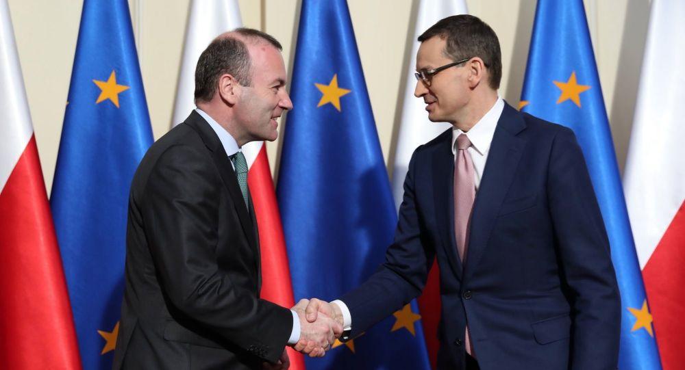 Manfred Weber i Mateusz Morawiecki