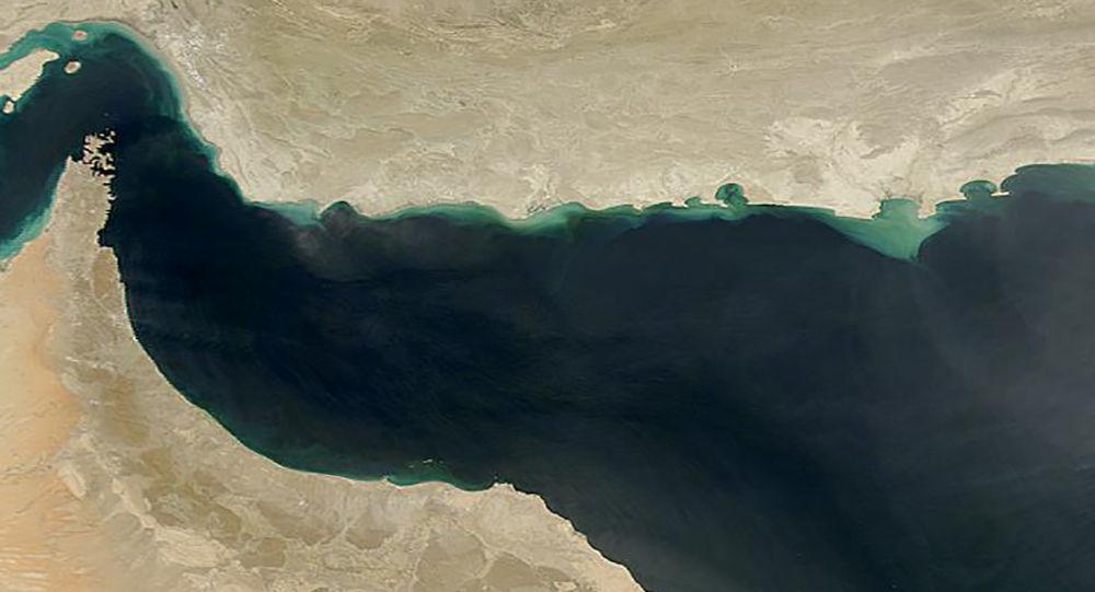 Zdjęcie Zatoki Omanu z kosmosu