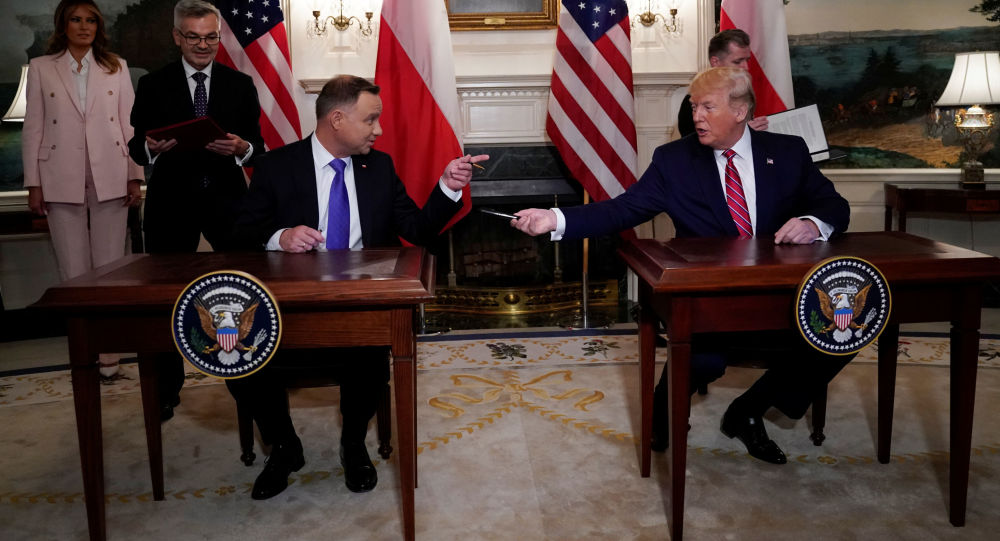 Prezydent Polski Andrzej Duda i prezydent USA Donald Trump