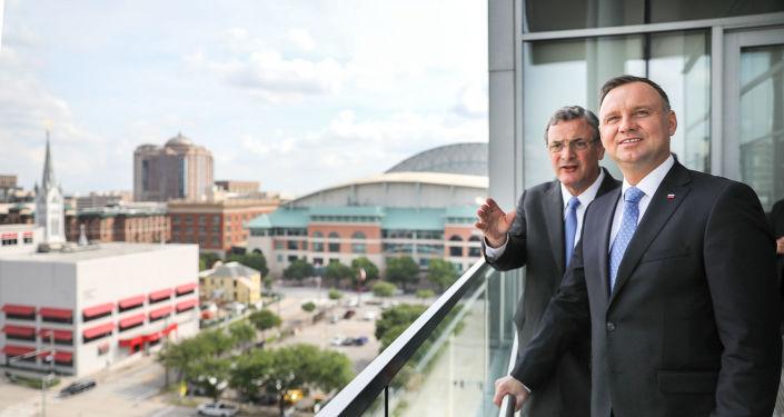 Andrzej Duda i Bob Harvey, Prezes i CEO Greater Houston Partnership