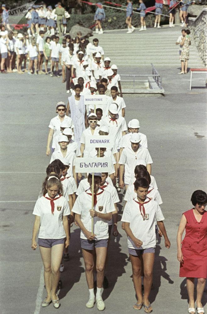 Dzieci w obozie Artek, 1967 rok