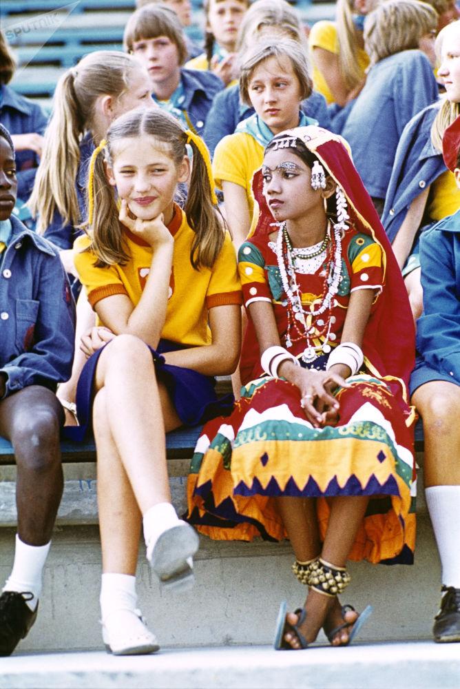 Dziewczynka z Indii w Arteku, 1978 rok