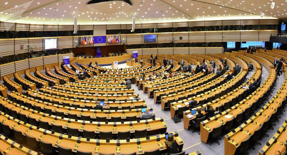 Sala posiedzeń Parlamentu Europejskiego w Brukseli