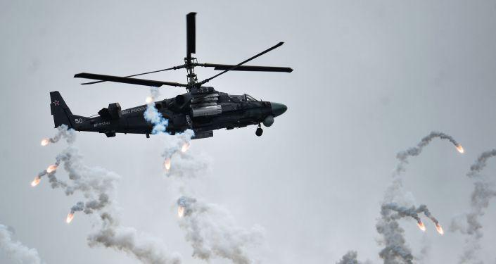 Śmigłowiec Ка-52 Aligator na międzynarodowym konkursie Awiadarts-2015