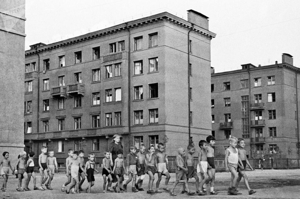 Dzieci na ulicach Moskwy, 23 czerwca 1941 roku
