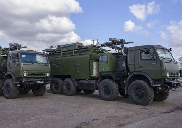 """Rosyjski system walki radioelektronicznej """"Palantin"""""""