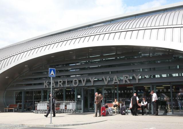 Budynek lotniska w Karlowych Warach