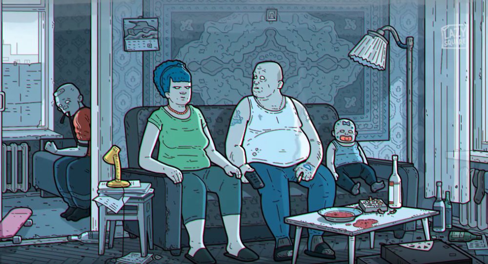 The Simpsons. Russian Art Film Version