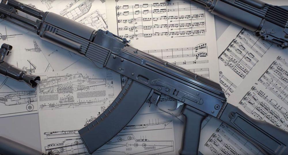Kadr z nagrania o nazwie Symfonia rosyjskiego uzbrojenia/Symphony Of Russian Armament na kanale Rosoboroneksportu na YouTube
