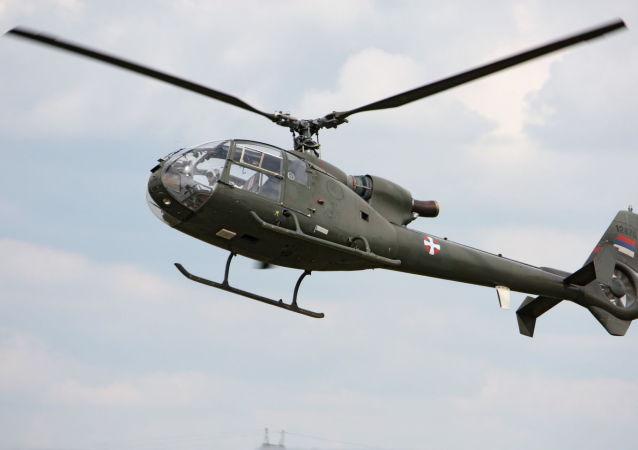 Śmigłowiec Gazelle Sił Powietrznych Serbii