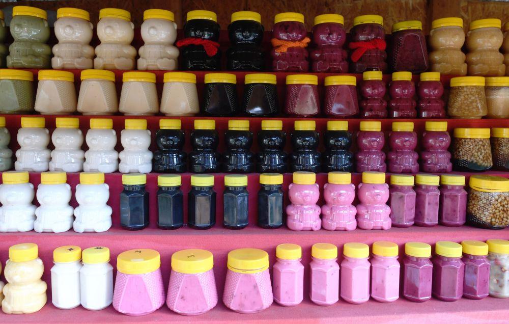 Wyroby cukiernicze w sklepie z pamiątkami w Republice Ałtaju