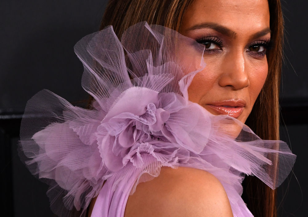 Jennifer Lopez podczas 59. ceremonii wręczenia nagród Grammy, 2017 rok