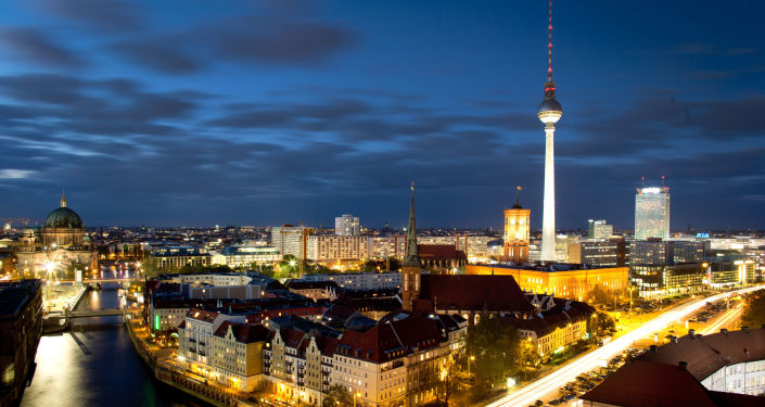 Nocny widok na Berlin