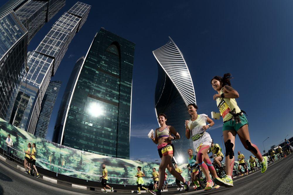 Uczestnicy Maratonu Moskiewskiego 2015
