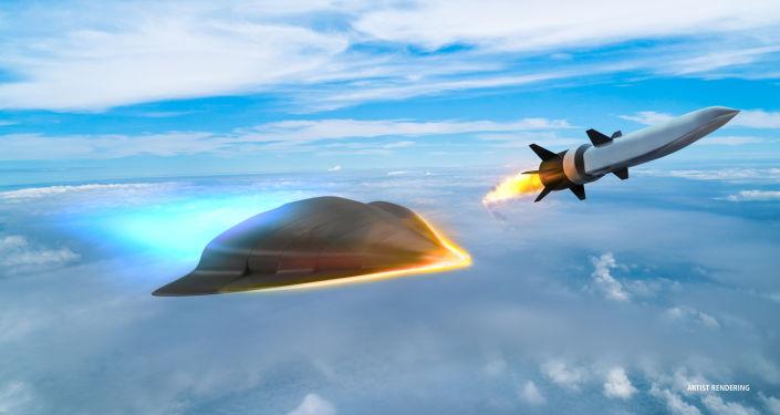 Artystyczny obraz hipersonicznej broni opracowanej przez firmę Raytheon dla Departamentu Obrony USA