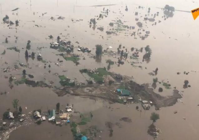 Skutki powodzi w Rosji