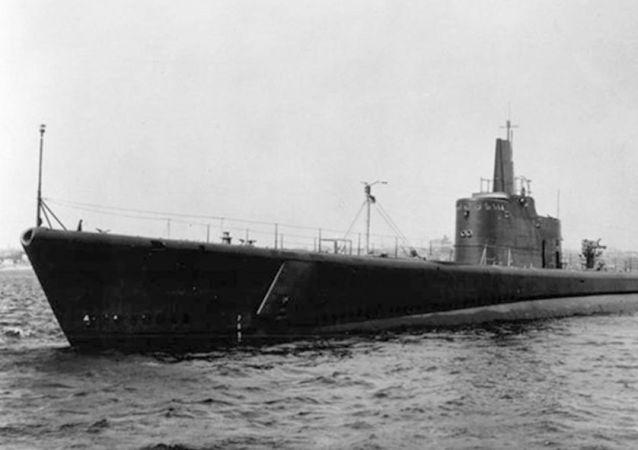 Okręt podwodny USS Grunion US Navy, który zaginął na Oceanie Spokojnym podczas II wojny światowej
