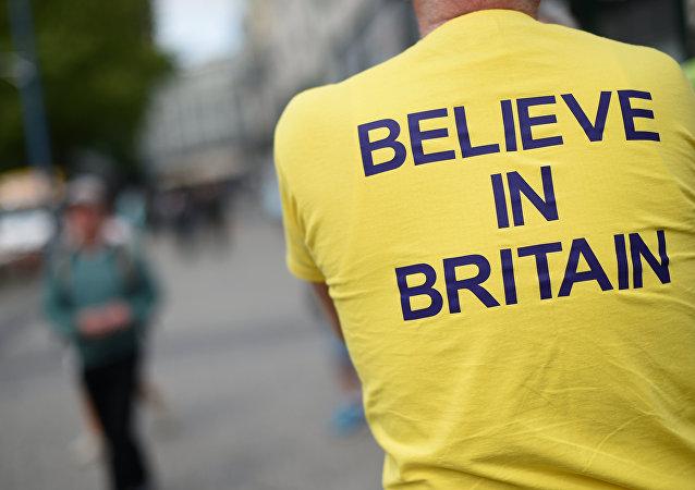 Koszulka z hasłem Uwierz w Wielką Brytanię
