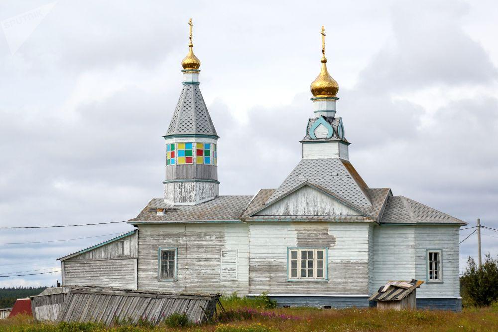 Wieś Kaszkarancy w obwodzie Murmańskim