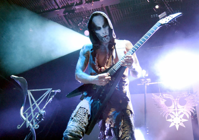 Wokalista grupy Behemoth Adam Nergal Darski