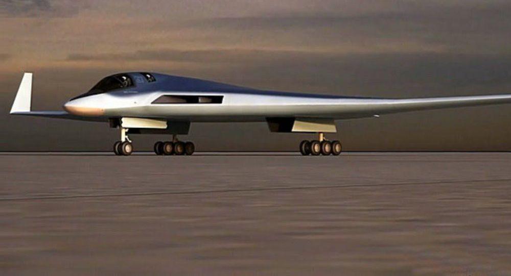 """Szkic perspektywicznego kompleksu lotniczego lotnictwa dalekiego zasięgu (PAK DA lub """"Produkt 80"""")"""