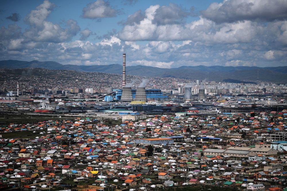 Widok na miasto Ułan Bator w Mongolii