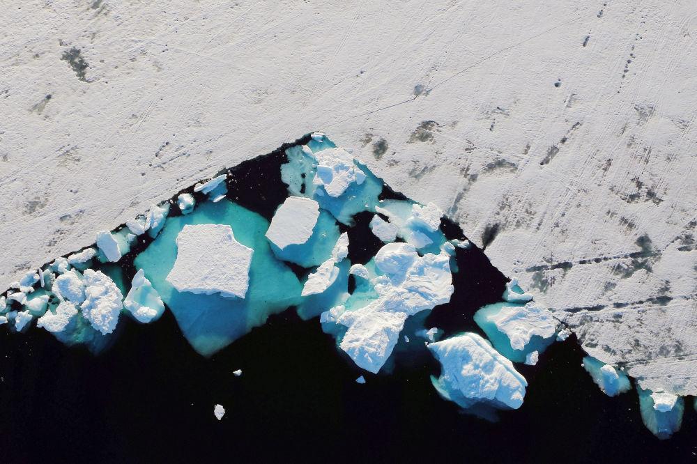 Góry lodowe blisko miasta Tasiilaq