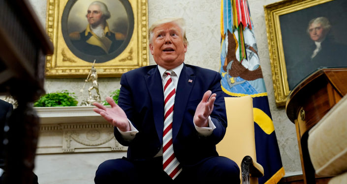 Prezydent Donald Trump w Białym Domu.