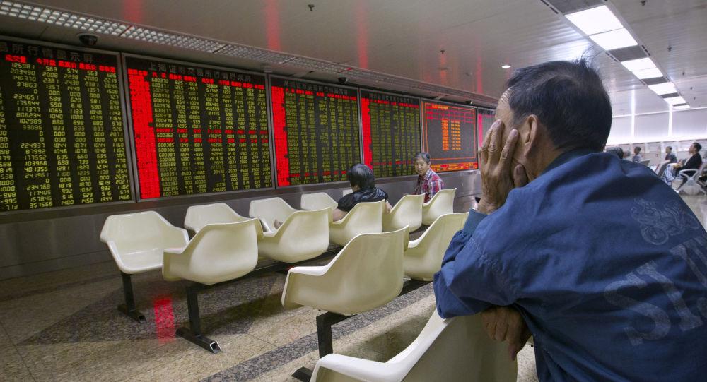 Chińska giełda w Pekinie