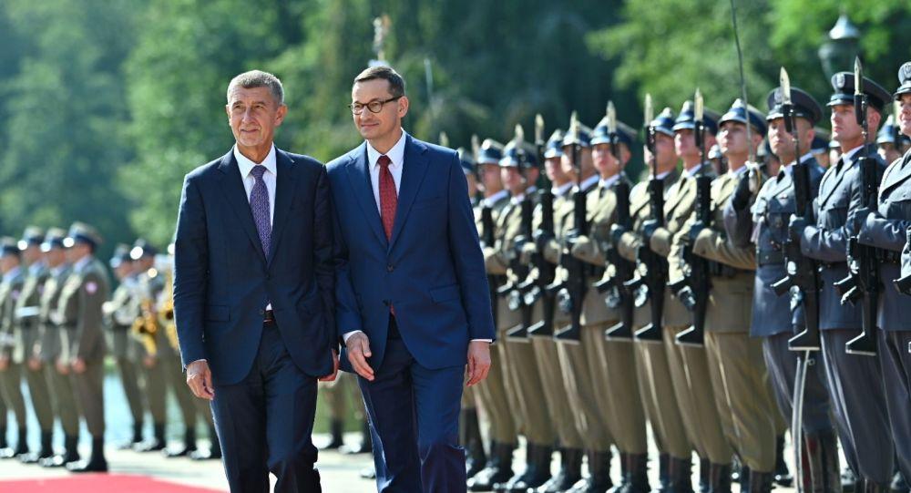Premier Czech Andrej Babisz i premier Mateusz Morawiecki, wizyta czeskiej delegacji w Polsce