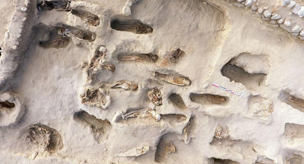 Miejsce masowej ofiary z dzieci niedaleko miasta Trujillo w Peru