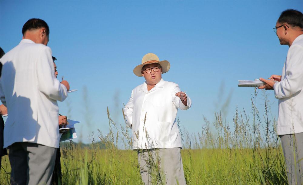 Kim Dzong Un na budowie farmy w prowincji Hamgyŏng Północny
