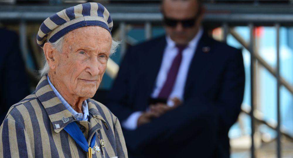 Były więzień obozów koncentracyjnych Eduard Mosberg na uroczystości z okazji 80. rocznicy wybuchu II wojny światowej w Warszawie