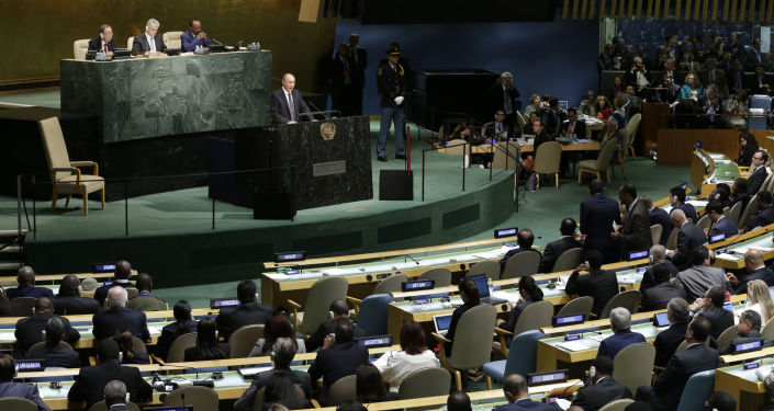 Prezydent Rosji Władimir Putin na 70. sesji Zgromadzenia Ogólnego ONZ
