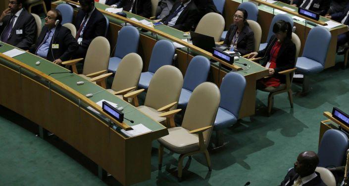 Ukraińska delegacja opuściła salę Zgromadzenia Ogólnego ONZ podczas przemówienia prezydenta Rosji Władimira Putina.