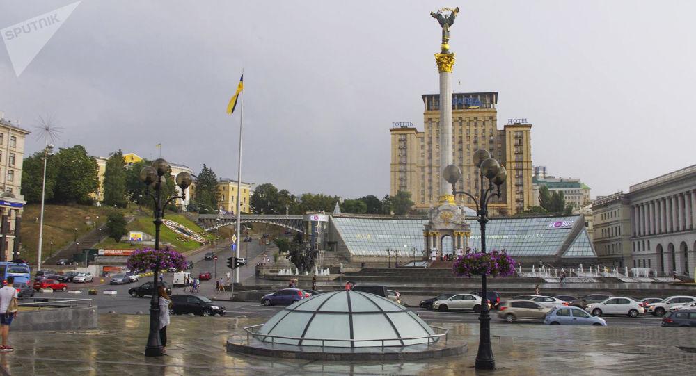 Plac Niepodległości w centrum Kijowa