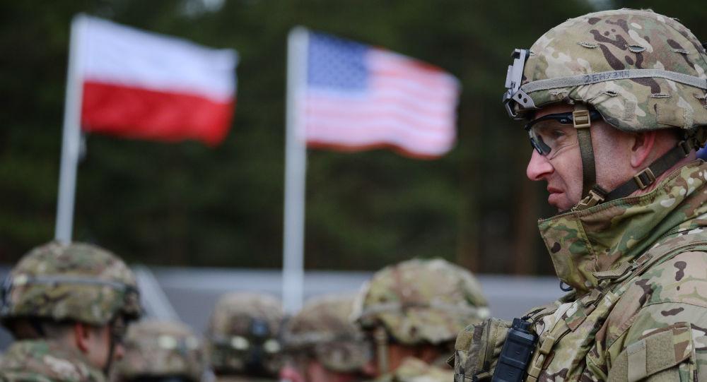 Ceremonia powitania wielonarodowego batalionu NATO pod dowództwem USA w polskim Orzyszu