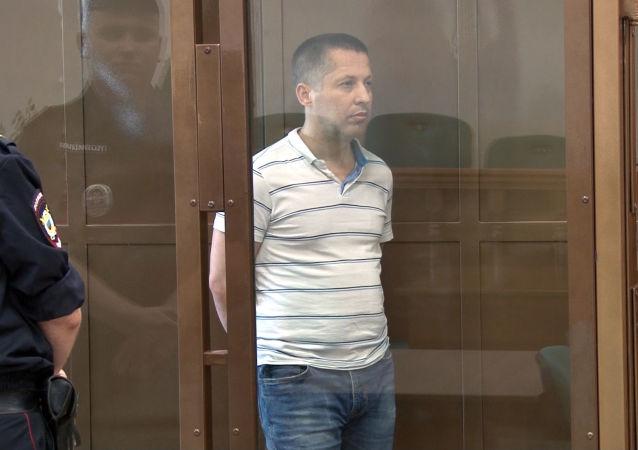 Obywatel Polski Marian Radzajewski podczas orzeczenia wyroku w Moskiewskim Sądzie Miejskim