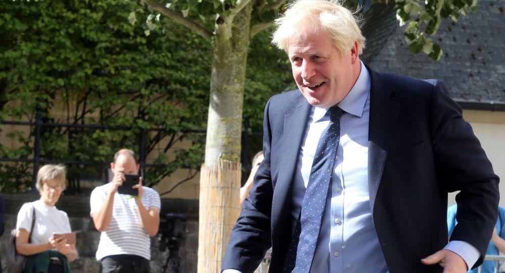 Premier Wielkiej Brytanii Boris Johnson w Luksemburgu