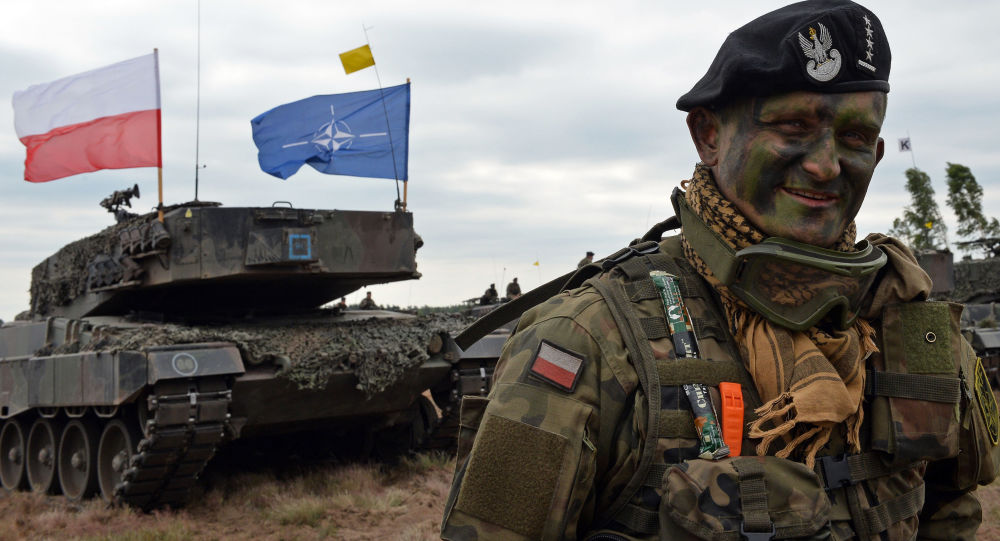 Dowódca polskiego czołgu na ćwiczeniach wojskowych NATO